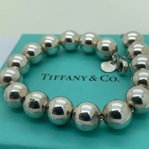"Tiffany & Co.925 10mm Beads Bracelet 7"" Long"